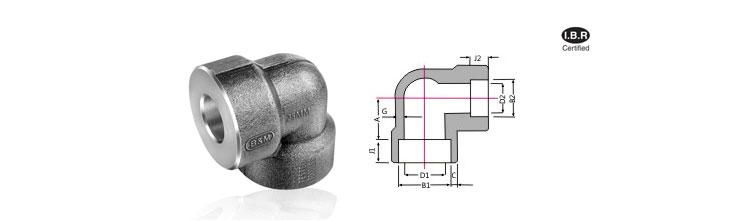 Reducing socket elbow welding fittings