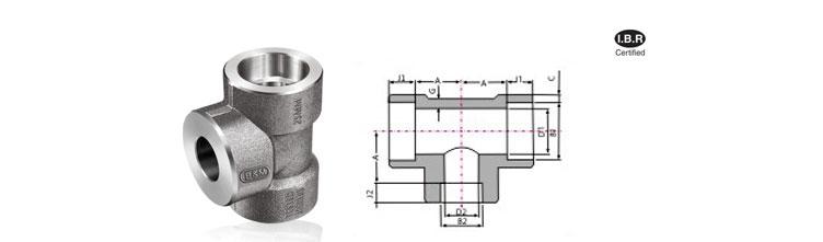 Reducing pipe and tube fittings socket weld tee